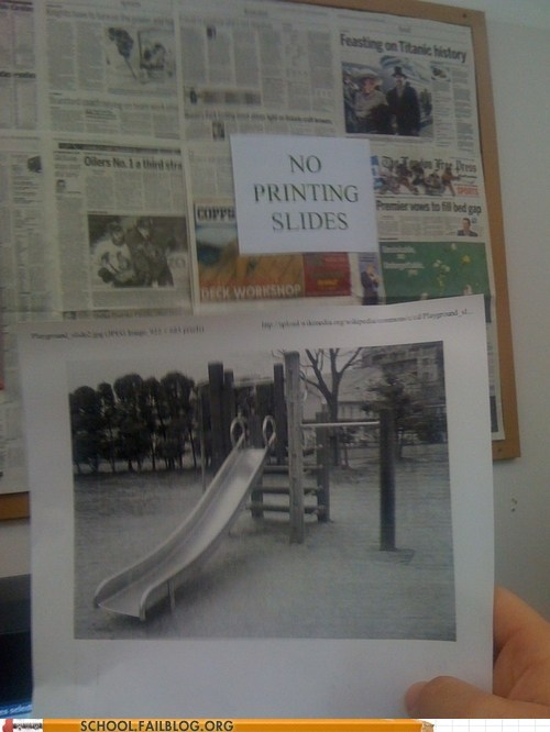 school,slides,printer