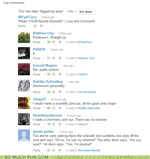 youtube elements variations on a theme comment science