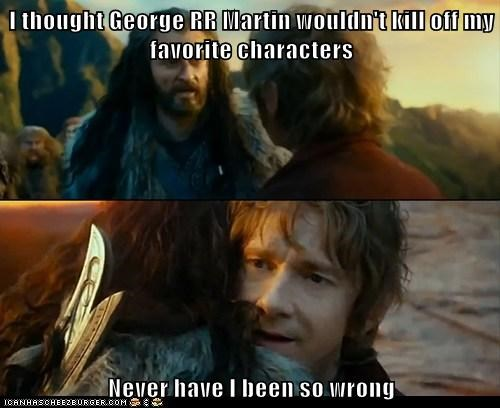 fantasy,Sudden Change of Heart Thorin,George RR Martin,books