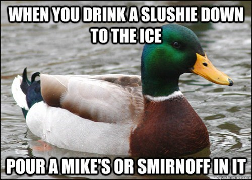 duck,slushie,mike's,genius