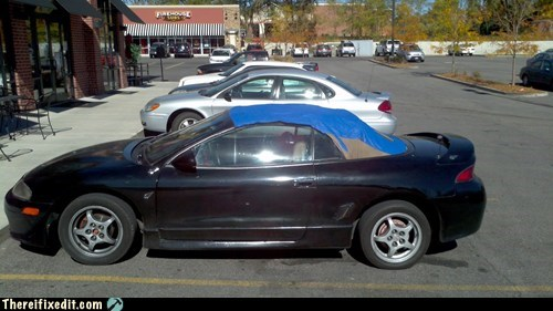 racing stripes convertible blue accent soft top blue tape