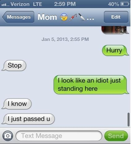 iPhones passed idiot mom