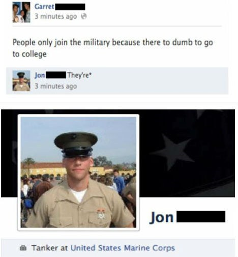 grammar nazi military facebook college - 6951842816