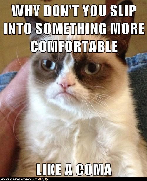 coma pick-up lines Grumpy Cat - 6951853312