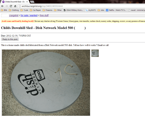craigslist,dish network,good reception