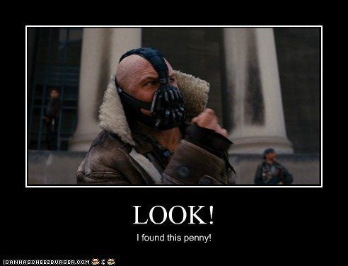 excited penny the dark knight rises bane tom hardy batman