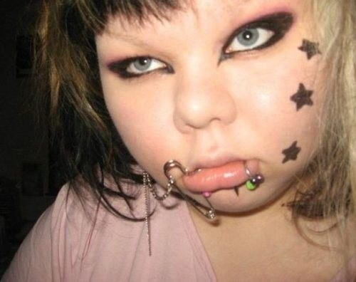 face tattoos stars piercings - 6952001024