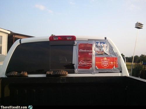 rear window drunk pickup truck - 6952002304