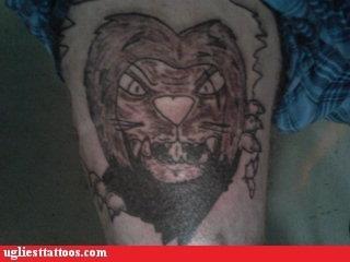 leg tattoos lion - 6952018176