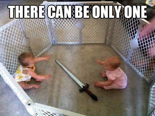 Babies only one highlander