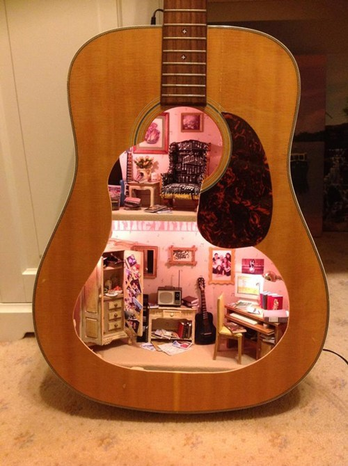 guitar design dollhouse - 6952207616
