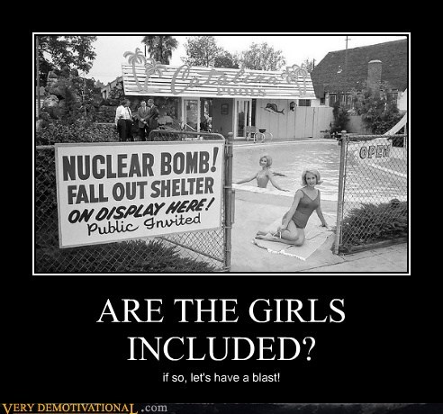 included nuclear girls bomb shelter