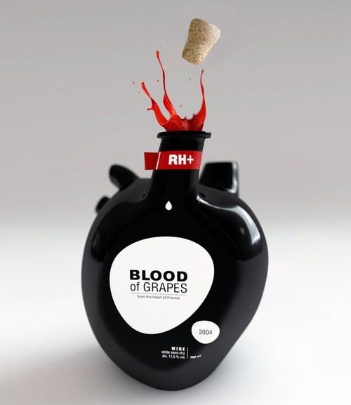 bottle heart Blood wine - 6952388608
