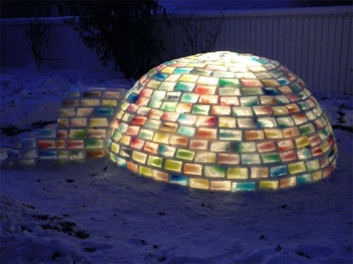 igloo,DIY,pretty colors,rainbow