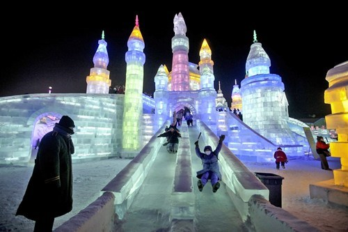 ice festival,snow,ice,winter,pretty colors