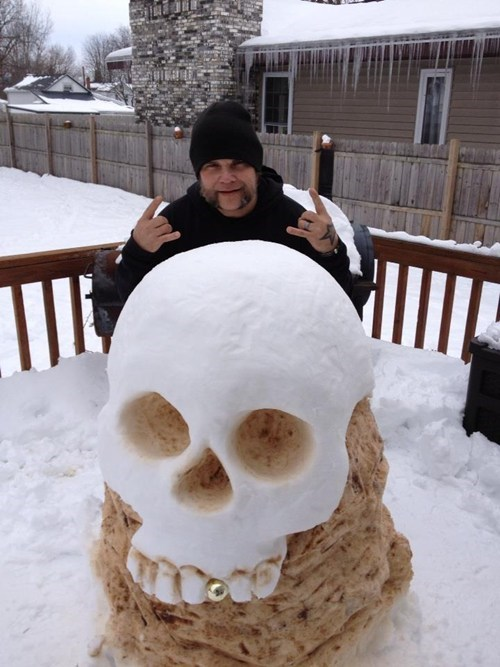 snow skull winter snow sculpture - 6952531456