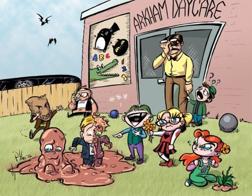 daycare commissioner gordon clayface two face kids the joker Fan Art bane Arkham Asylum the riddler Harley Quinn poison ivy - 6952578816