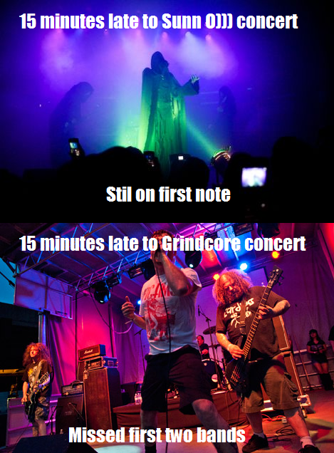 concerts grindcore Sunn O