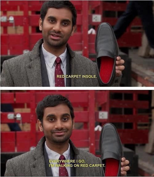 shoes red carpet aziz ansari