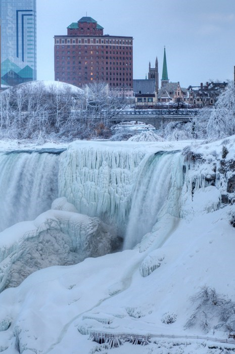 niagara falls,ice,waterfall,winter