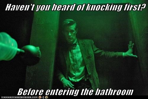 knocking,the doctor,daleks,Matt Smith,bathroom,doctor who