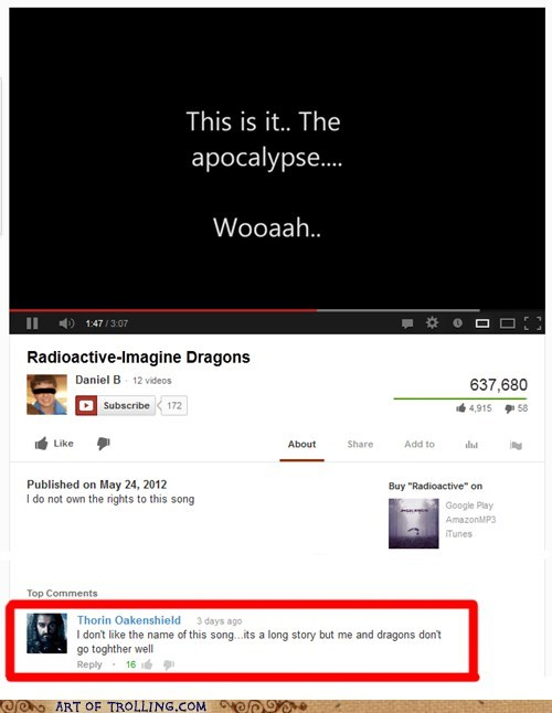 youtube song Movie dragons The Hobbit - 6953014272
