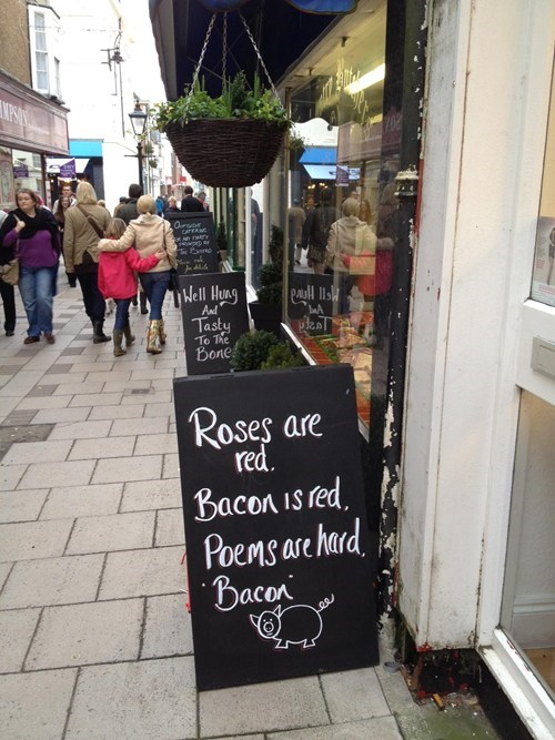 sign,poem,restaurant,deep,bacon,g rated,win
