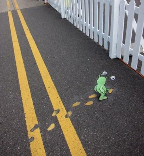 Street Art art alien graffiti - 6953212416
