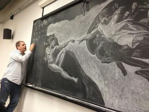 art cistine chapel chalkboard - 6953225984