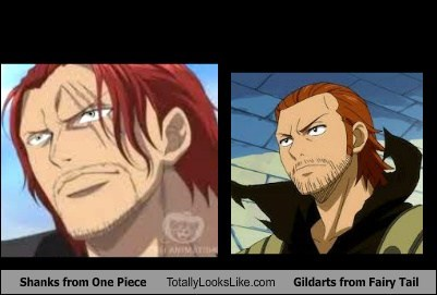 shanks anime TLL gildarts fairy tail animated cartoons one piece