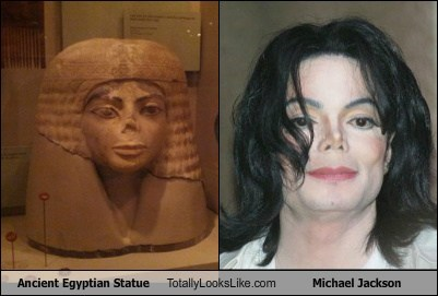 ancient michael jackson statue TLL bust egyptian