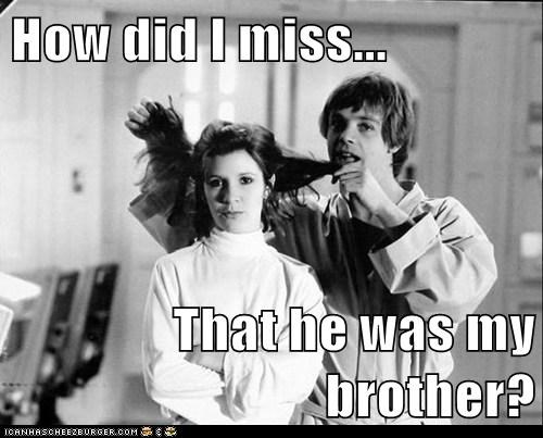 star wars,annoying,brother,luke skywalker,carrie fisher,Princess Leia,Mark Hamill