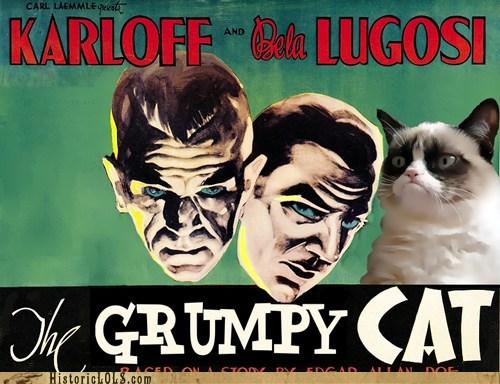 bela lugosi boris karloff Grumpy Cat - 6954529792
