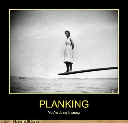 Planking,diving board,wrong