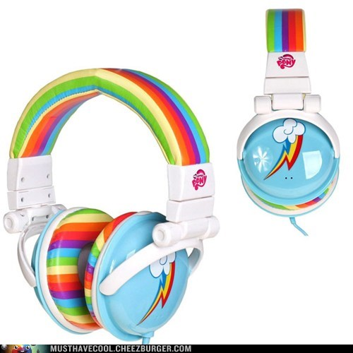 my little pony electronics headphones mlpfim rainbow dash