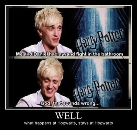 Harry Potter actor demotivational tom felton funny - 6955495168