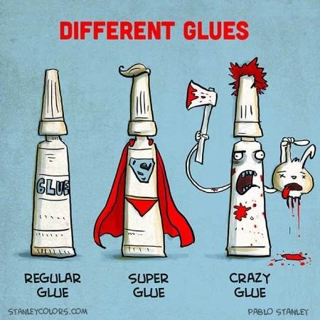 crazy glue literalism prefix Super regular types