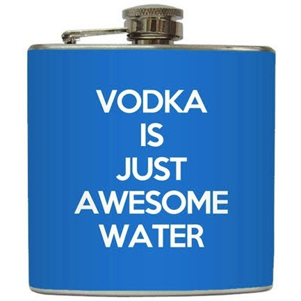 alcohol vodka flask awesome water