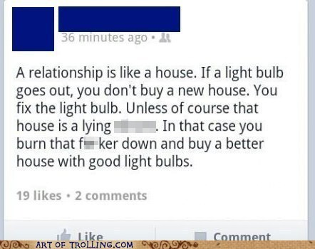 relationship,bright idea,facebook,light bulb