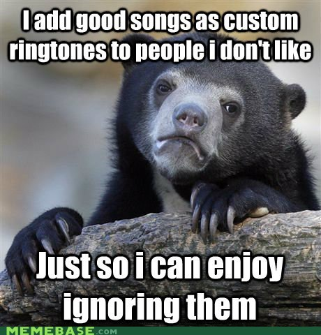 custom ringtones,ignored,Confession Bear