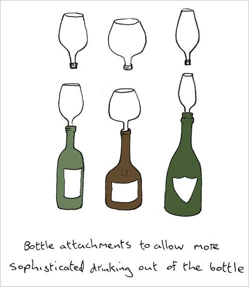 bottle attachment wine wine glass genius - 6955824896
