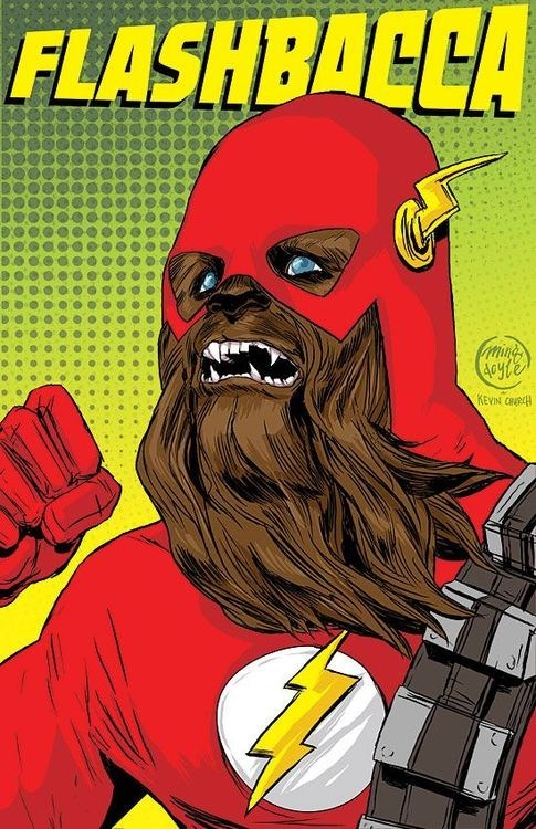 chewbacca,comic,superhero,the flash
