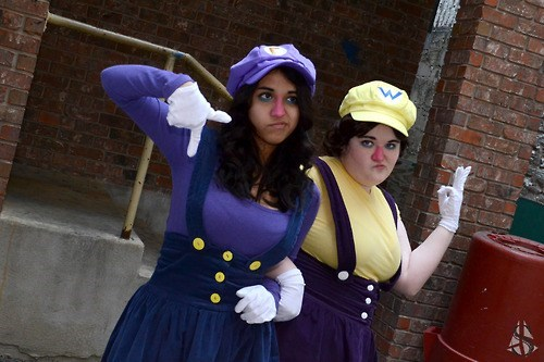 wario,cosplay,waluigi,rule 63,video games