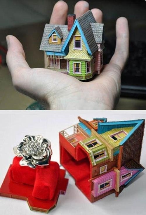 disney house up box proposal pixar ring