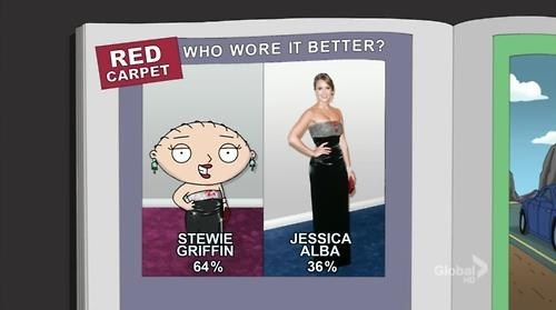 who wore it better,fashion,jessica alba,family gy,style,stewie griffin,dress,if style could kill