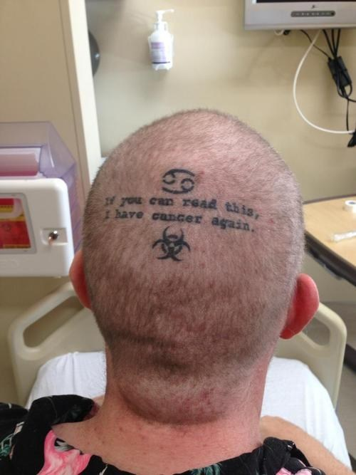 head tattoos cancer