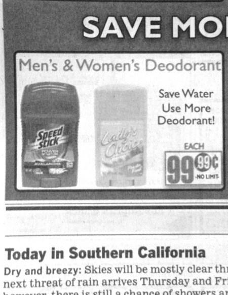 advertisement gross deodorant newspaper bathing - 6956641792