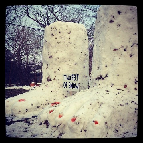 pun,snow,snow sculpture