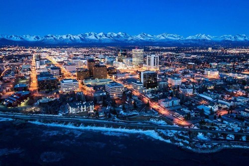 anchorage,alaska,cityscape,night