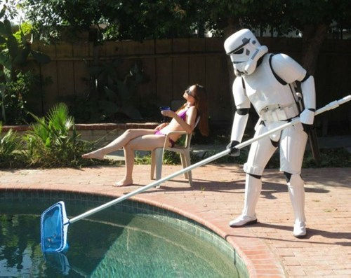 star wars,nerdgasm,stormtrooper,pool boy